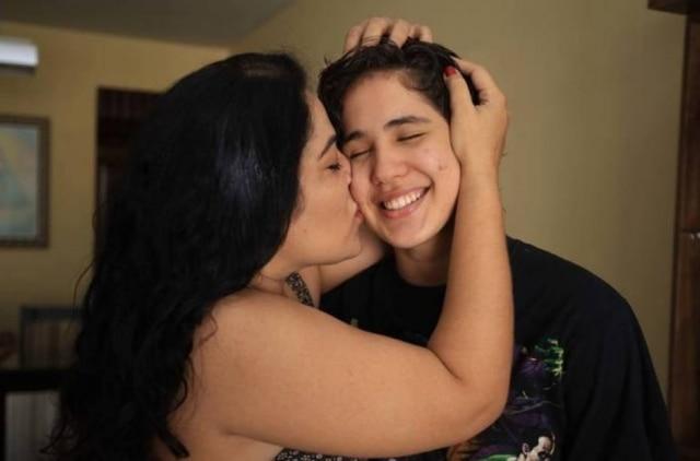 Norma e José Bernardo, seu filho.