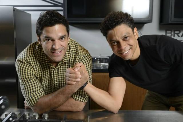 O chef Thiago Castanho com Fábio Moreira