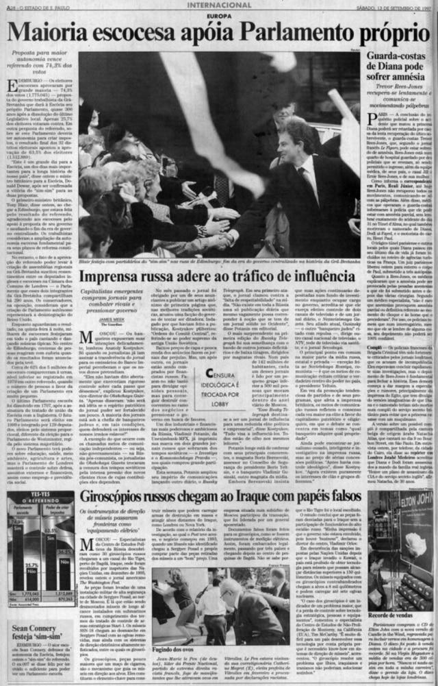 O Estado de S.Paulo- 13/11/1997