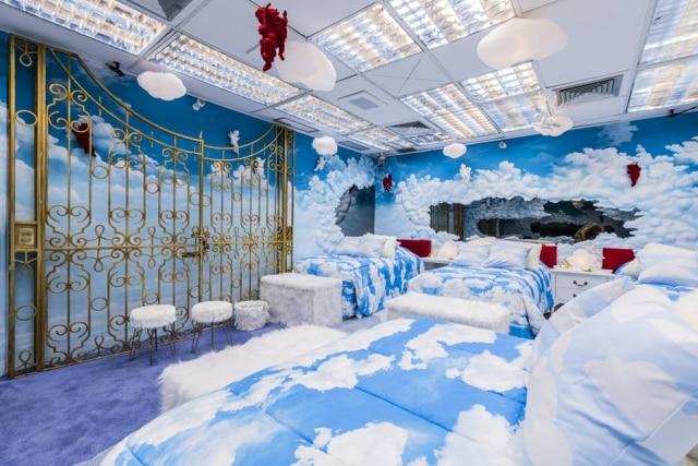 Quarto da casa do 'BBB 20' é decorado com o tema céu