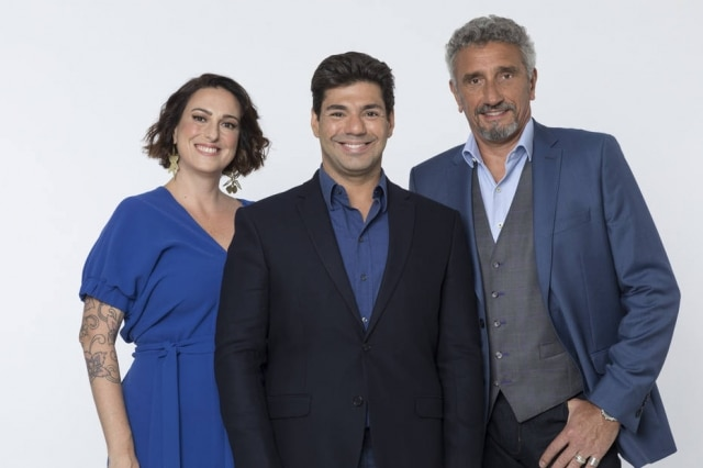 Ailin Aleixo, Felipe Bronze e Emmanuel Bassoleil, do'Top Chef'