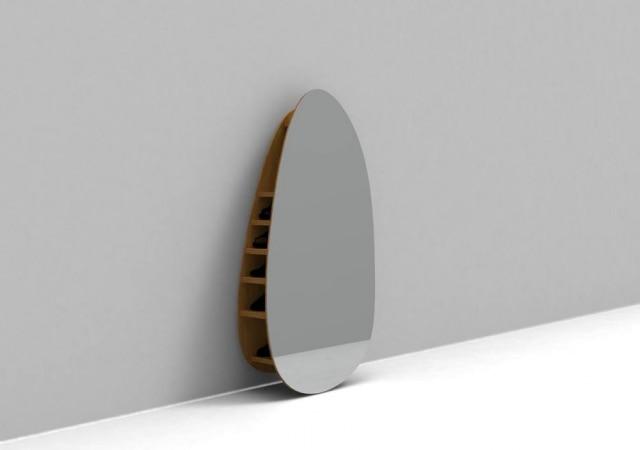 Do estúdio Lattog, espelho esconde sapateira