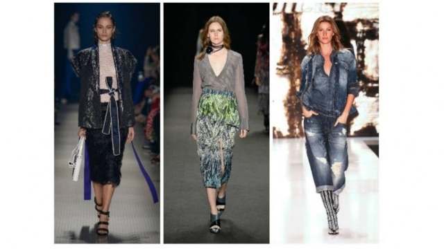 Amarrações, decotes profundos e jeans foram algumas das tendências desfiladas na SPFW