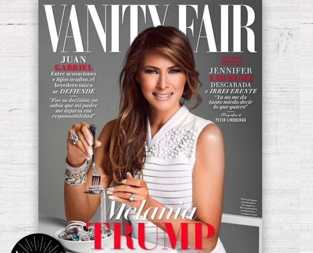 A 'Vanity Fair' mexicana colocou Melania Trump na capa e foi muito criticada.