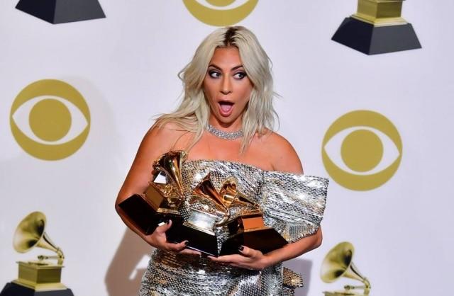 A cantora e atriz Lady Gaga durante o Grammy Awards 2019.