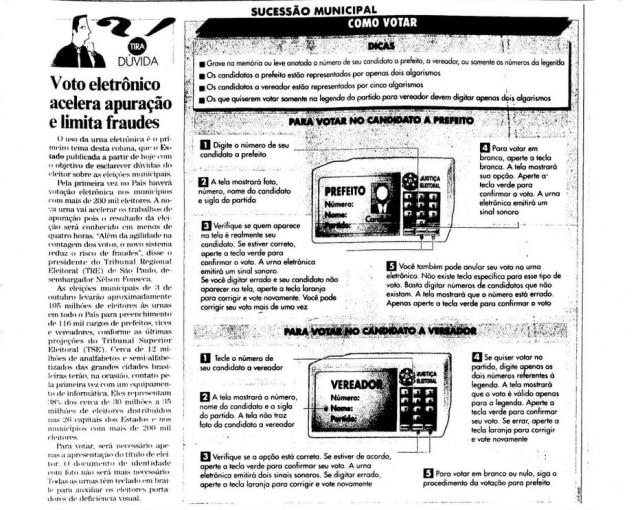 >> Estadão - 20/9/1996