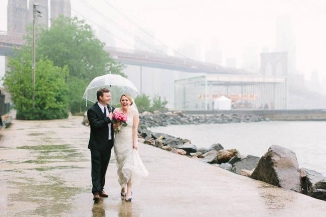 Não deixe a chuva estragar seu casamento