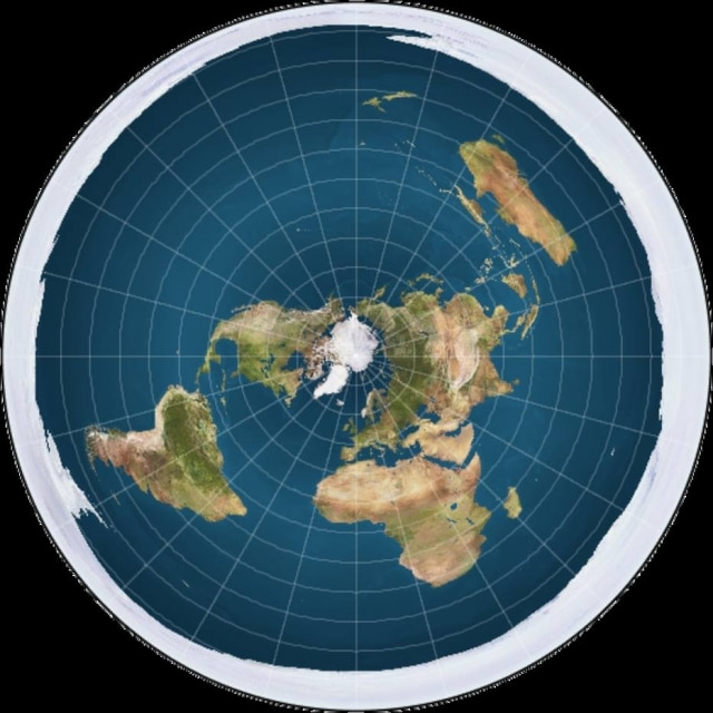Pessoas que acreditam na 'teoria' da Terra plana se reuniram e chegaram à conclusãoi que a gravidade não existe