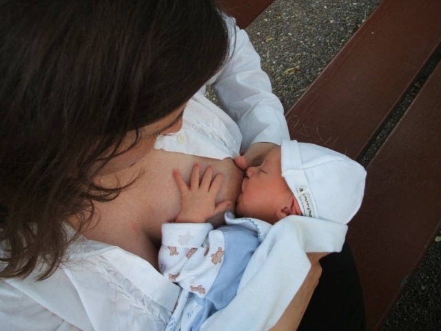 Caminhada faz parte das ações daSemana Mundial do Aleitamento Materno.