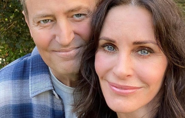 Matthew Perry e Courteney Cox, de 'Friends'