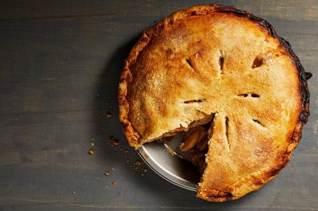 Torta de maçã clássica americana.