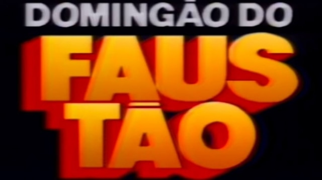 Primeiro logotipo do 'Domingão do Faustão'.