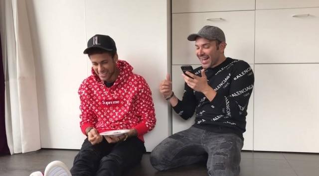 Neymar e Matheus Mazzafera