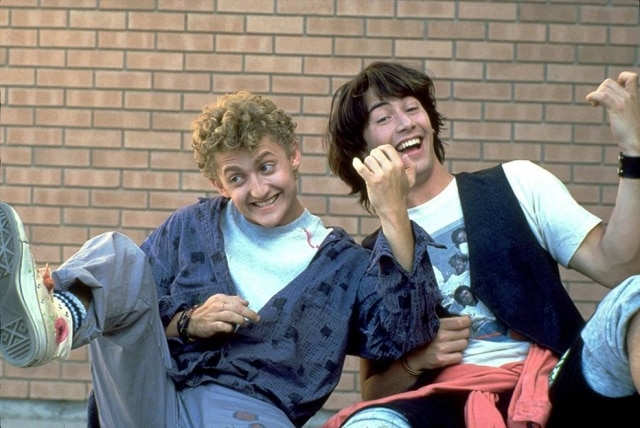 Keanu Reeves e Alex Winter em 'Bill & Ted'.
