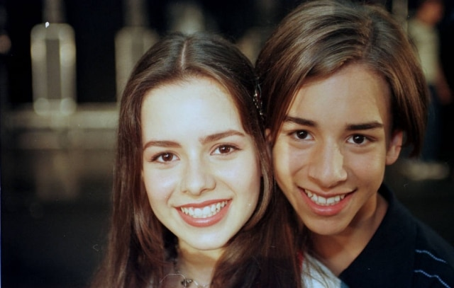 Sandy e Junior em foto de 1998.