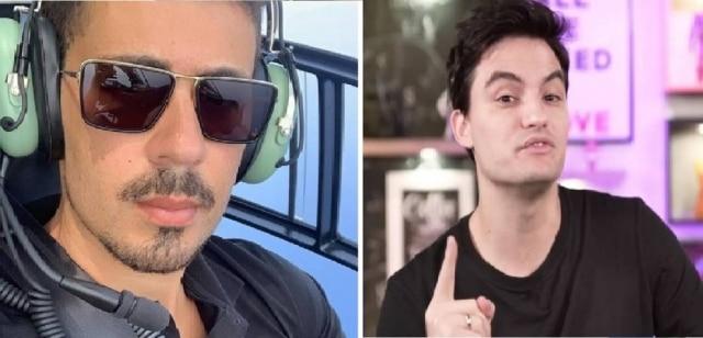 Comentário de Carlinhos Maia (à esquerda) foi alvo de críticas de Felipe Neto (à direita).