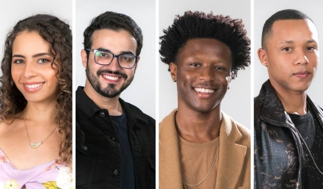 Ana Canhoto, Douglas Ramalho, Izrra e Victor Alves, os cantores finalistas do 'The Voice Brasil' em 2020