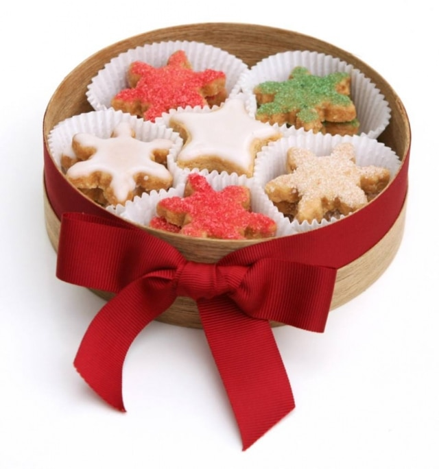 Biscoitos amanteigados natalinos.