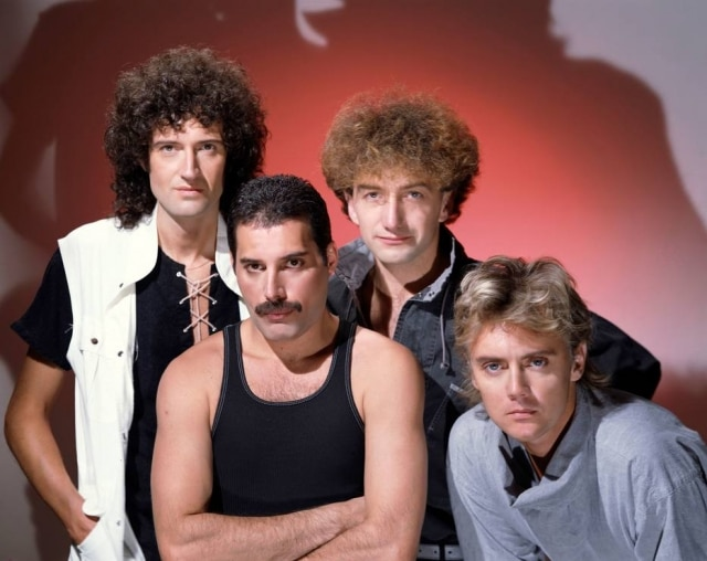 Brian May, Roger Taylor, Freddie Mercury eJohn Deacon da banda Queen