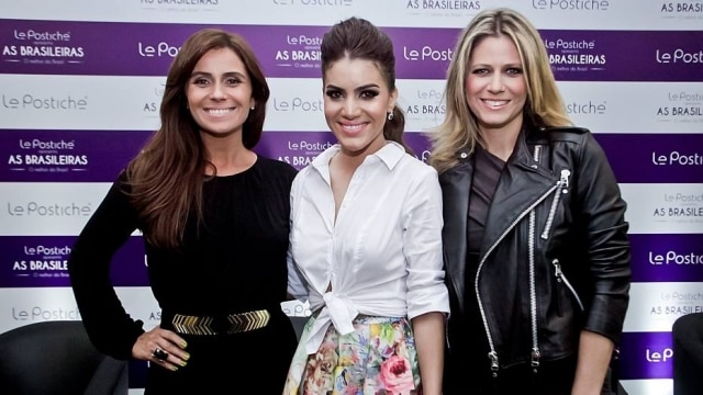 Giovanna Antonelli, Camila Coelho e Didi Wagner no lançamento da nova coleção da Le Postiche