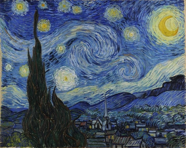 Quadro 'The Starry Night', de Vincent Van Gogh