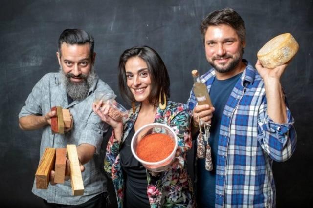 O trio à frente do projeto: Mauricio Maia (colunista do 'Paladar'), Isadora Bello Fornari e Rafael Cardoso