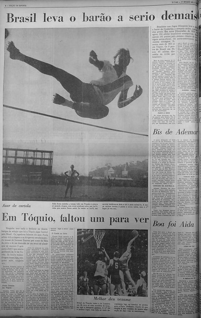 Edição de Esportes - 02/11/1964