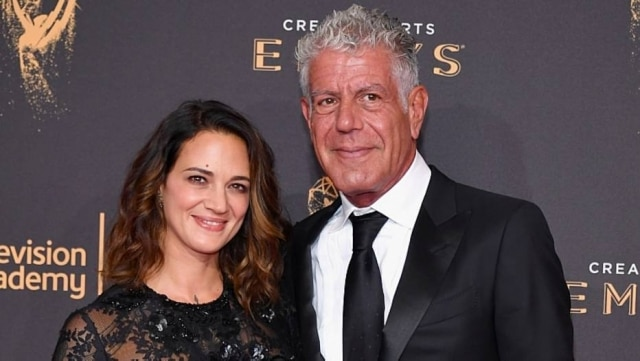 A atriz Asia Argento e o chef Anthony Bourdain