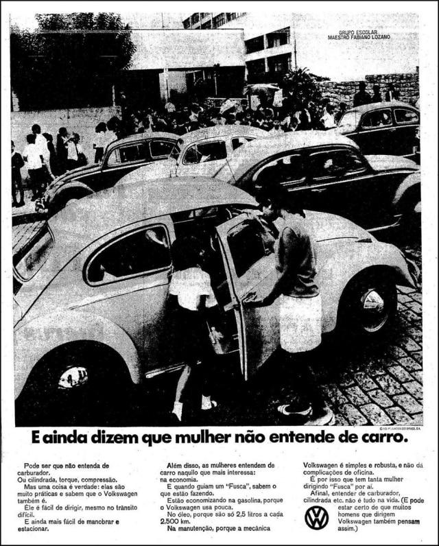 Anúncio do Fusca 1968publicado no Estadão de 11/6/1968