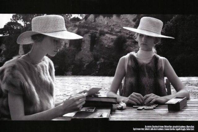 Imagem do editorial de moda inspirado em 'Persona' e publicado na 'Vogue' Itália, em 2008