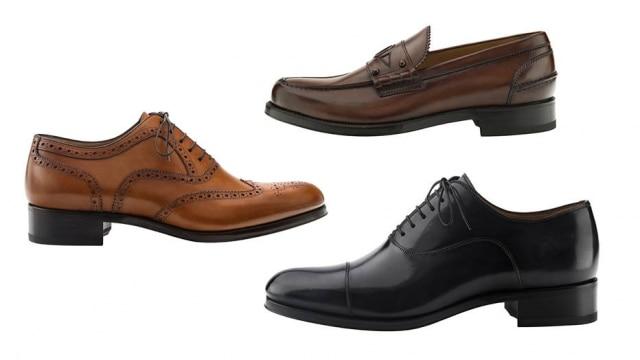 Sapatos de Christian Louboutin: a sola é vermelha, mas os modelos são mais clássicos do que os femininos
