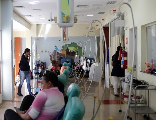 Sala de quimioterapia no Hospital Santa Marcelina,onde crianças e adolescentes assistidos pela Tucca recebem tratamento.