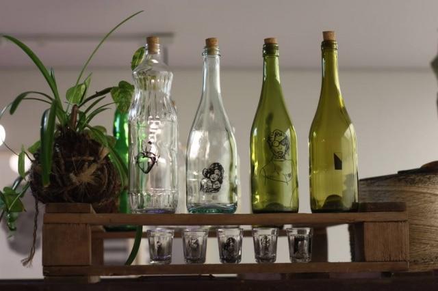 O local e a data do Mercado Itinerante variam a cada edição; na foto, garrafas da Vértice Casa
