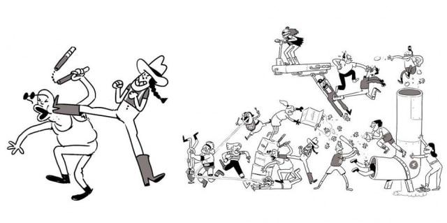 Desenho começou com apenas duas pessoas, mas novos personagens são inseridos diariamente – ele já chegou a 75.