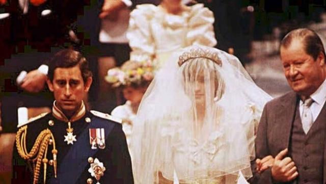 Foto do casamento de Lady Diana com o príncipe Charles