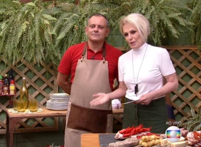 Ana Maria Braga e Zé Abílio durante o programa 'Mais Você'.
