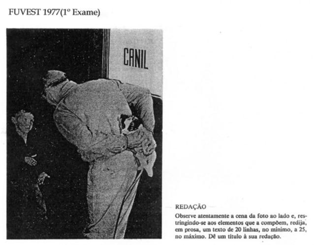 Prova de Redação de 1977 (1ºvestibular Fuvest) . Cliqueaquipara saber mais