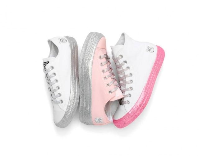 Os tênis da coleção de Miley para a Converse: produtos chegam ao Brasil com preços a partir de R$ 339,90