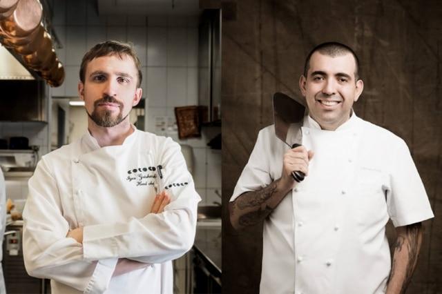 O chef russo Igor Grishechkin e Jefferson Rueda