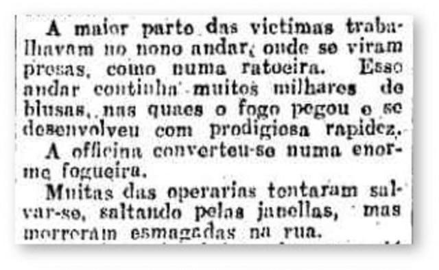 Trecho do telegrama publicado no Estadão de 28/3/1911.