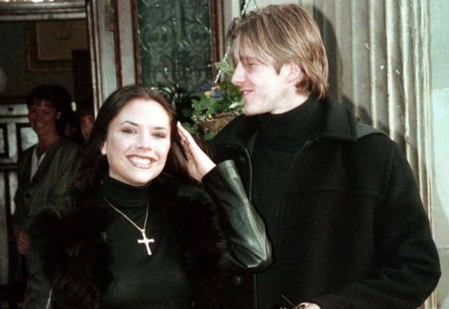 David e Victoria Beckham, à época em que ainda eram cantora e jogador