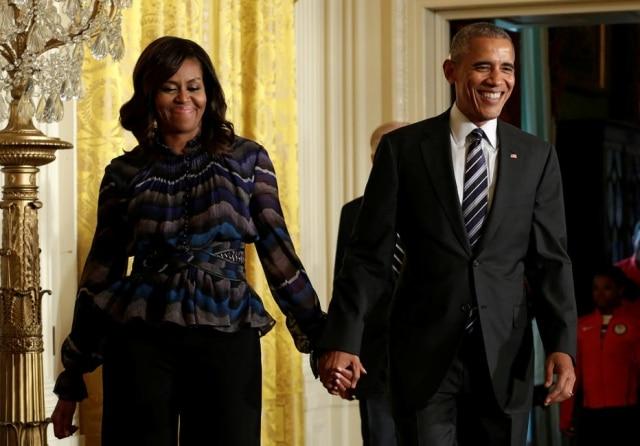 Barack Obama e Michelle Obama estão casados há 25 anos.