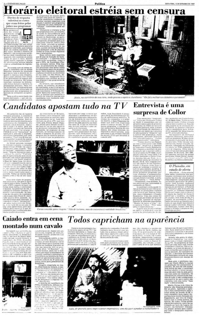 >Estadão - 15/9/1989