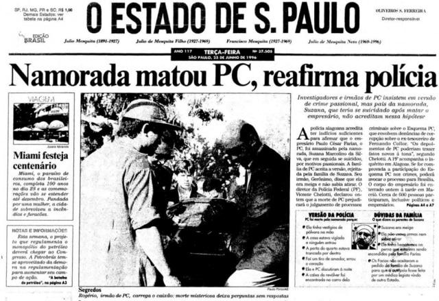 >> Estadão - 25/6/1996
