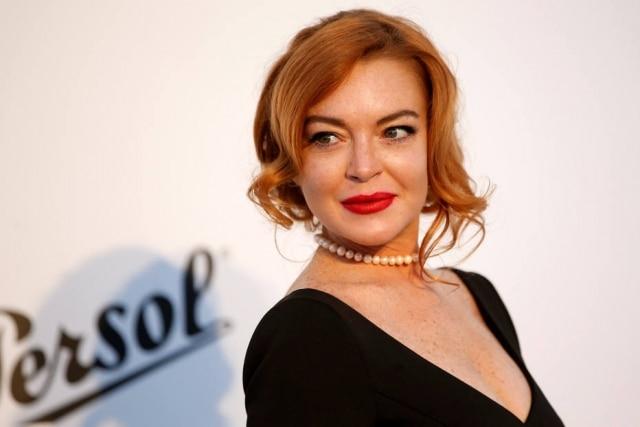 Lindsay Lohan durante o Festivan de Cannes de 2017