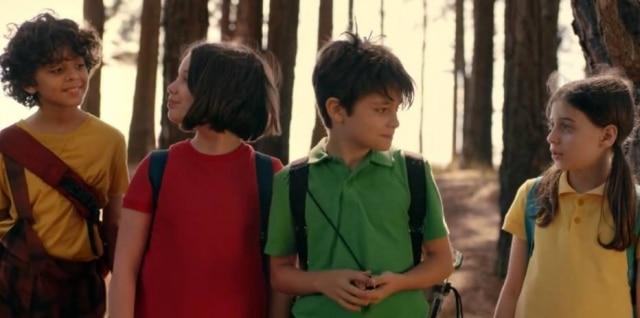 Cascão, Mônica, Cebolinha e Magali no filme 'Laços'