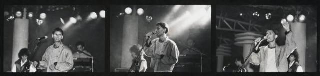 Cazuza ensaiando no Aeroanta para o show de lançamento de Ideologia (1988).