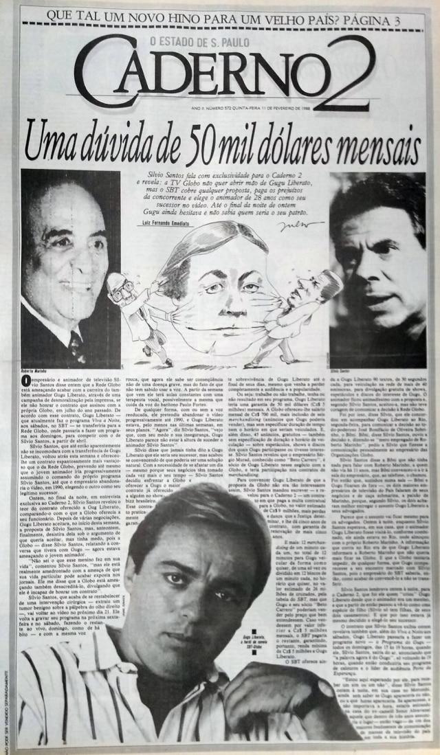 O Estado de S.Paulo - 11/2/1988clique aqui para ver a matéria