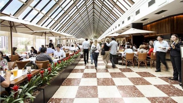 Terraço Gourmet atrai o público no shopping Eldorado