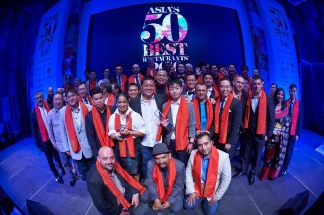 Chefs premiados na quarta edição no 50 Best Ásia.